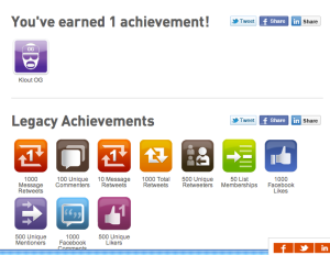 Klout Achievement