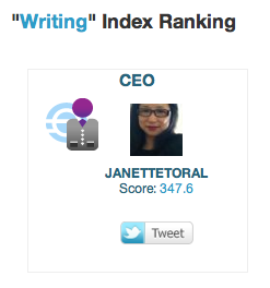 Janette Toral is CEO of Writing Index in Empire Avenue